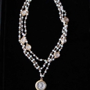 12N - Pearl & Coin Multi-Strand Necklace