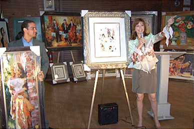 HFA fundraising art auctions feature an extensive selection of artwork.